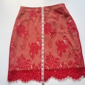 NBD Skirts - NWT NBD Red Lace Skirt